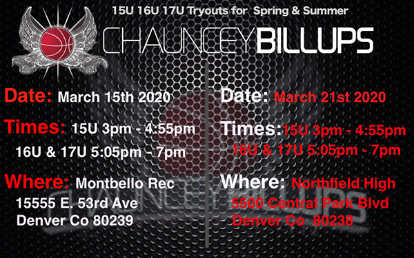TRYOUTS March 2020