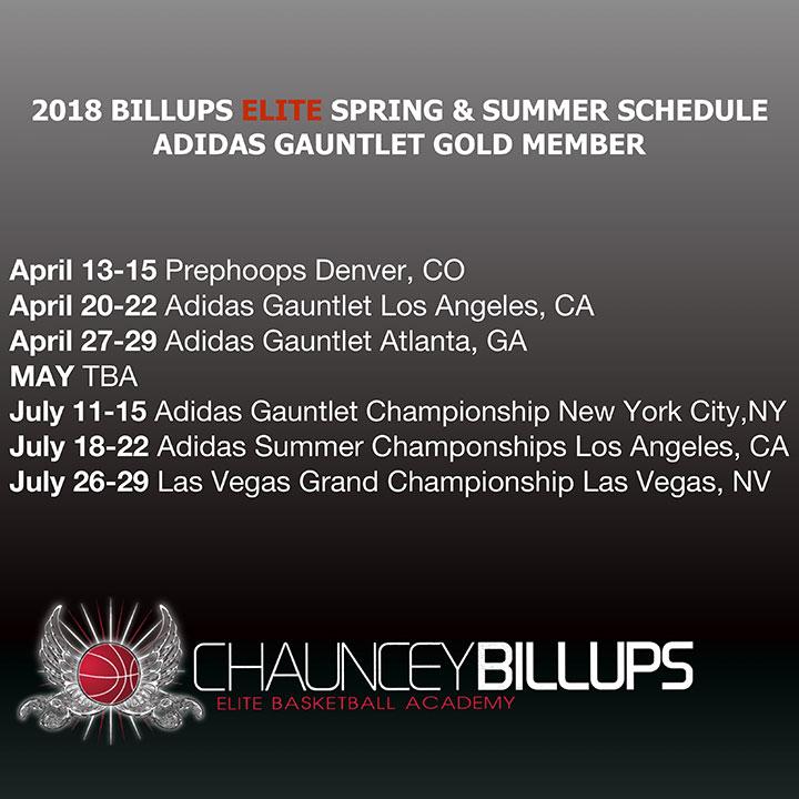2018 Spring & Summer Schedule