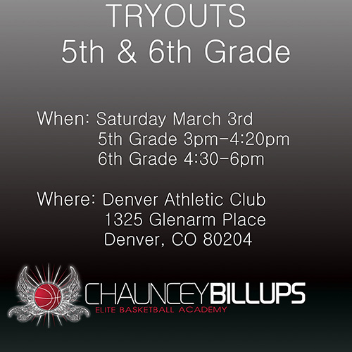 March 2018 Tryouts