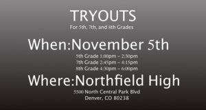 November 2016 Tryouts