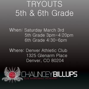 Tryouts | March 2018