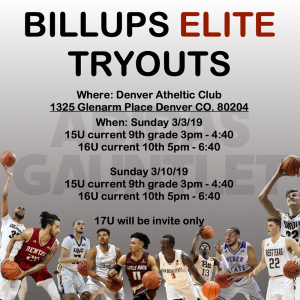 Tryouts | March 2019