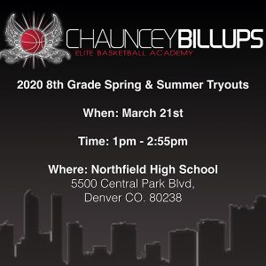 2020 8th Grade Spring & Summer Tryouts